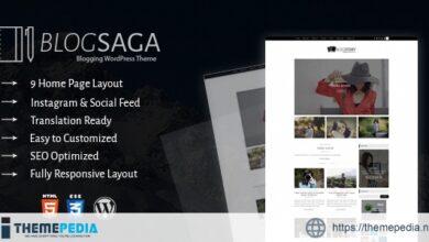 BlogSaga – WordPress Blog Theme [Latest Version]