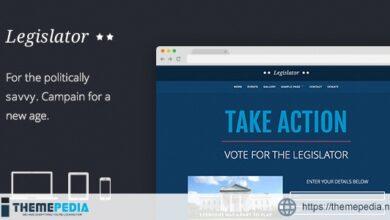 Legislator- Political WordPress Campaign [Free download]