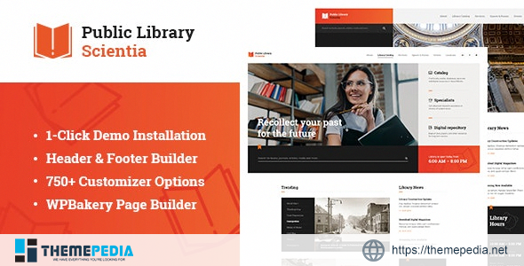 Scientia – Public Library & Book Store Education WordPress Theme [Free download]