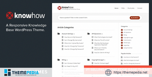 KnowHow – A Knowledge Base WordPress Theme [Updated Version]