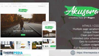 Akusara – Multipurpose Blog Theme [Free download]