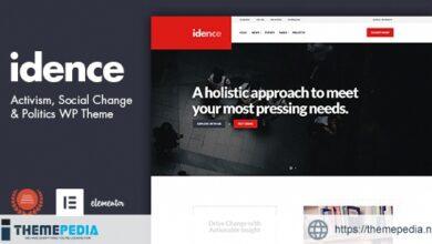 Idence – Activism WordPress Theme [Free download]