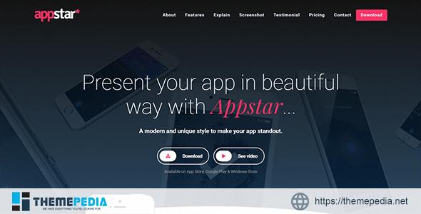 AppStar -Responsive WordPress App Landing Theme [Updated Version]