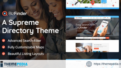 BizFinder – Business Directory Theme [Free download]