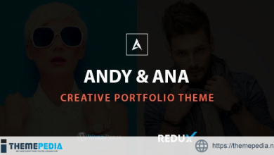 Andy & Ana Creative Portfolio Theme [Free download]