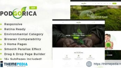 Podgorica – Environment and Renewable Energy WordPress Theme [Free download]