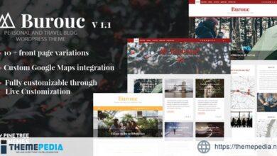 Burouc – Personal and Travel Blog WordPress Theme [Free download]