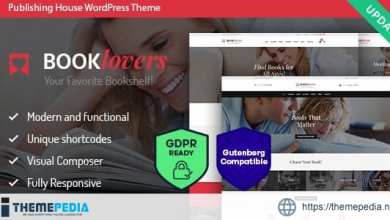 Booklovers – Publishing House & Book Store WordPress Theme + RTL [Free download]