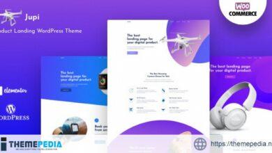 Jupi – Product Landing WordPress Theme [Free download]