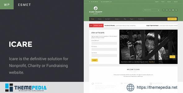 Charity WordPress Theme – ICARE [Free download]