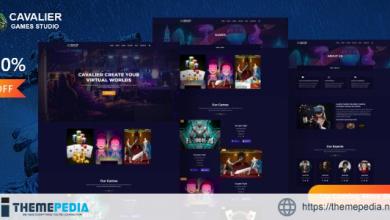 Cavalier – Gaming Studio WordPress Theme + RTL [Free download]