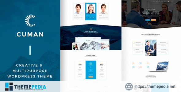 Cuman – Business Corporate theme [Free download]