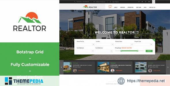 Realtor – Responsive Real Estate WordPress Theme [Free download]