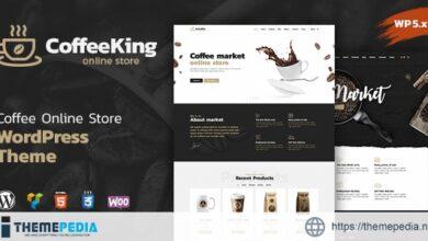 CoffeeKing – Coffee Shop & Drinks Online Store WordPress Theme [Free download]