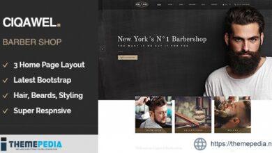 Cigawel – Barbershop WordPress Theme [Free download]