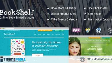 Bookshelf – Books & Media Online Store WordPress Theme [Free download]