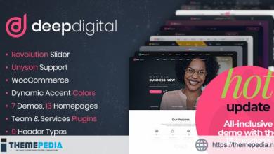 DeepDigital – Web Design Agency WordPress Theme [Free download]