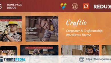 Craftio – Carpenter WordPress Theme [Free download]
