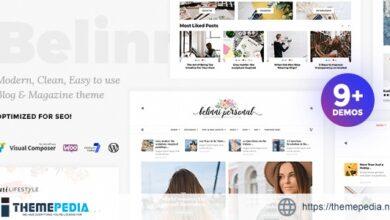 Belinni – Multi-Concept Blog – Magazine WordPress Theme [Free download]