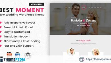 Best Moments – Modern Wedding WordPress Theme [Free download]