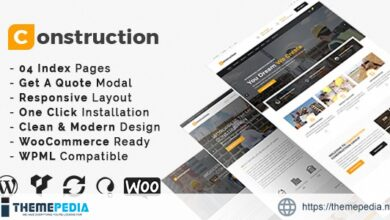 Construction – Building Business and Renovation WordPress Theme [Free download]