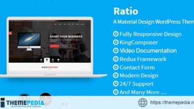 Ratio – Material Design WordPress Theme [Free download]