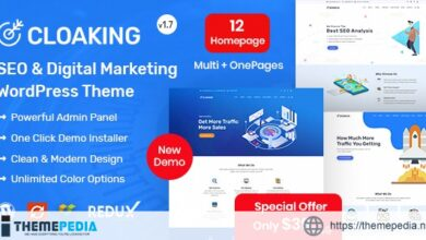Cloaking – SEO & Digital Marketing Agency WordPress Theme [Free download]