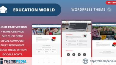 Education World WordPress Theme [Free download]