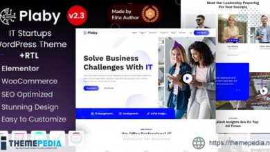 Plaby – Elementor IT Startup WordPress Theme [Free download]