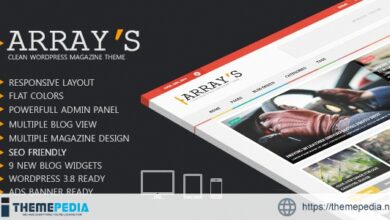 Arrays – Flat Magazine WordPress Theme [Updated Version]