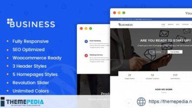 Business – Multi-Purpose Portfolio and Woocommerce WordPress Theme [nulled]