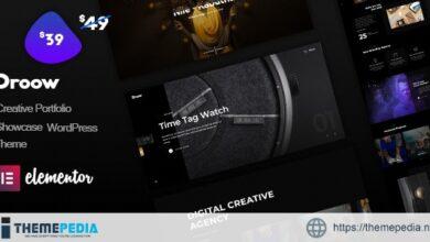 Droow – Ajax Portfolio WordPress Theme [Free download]