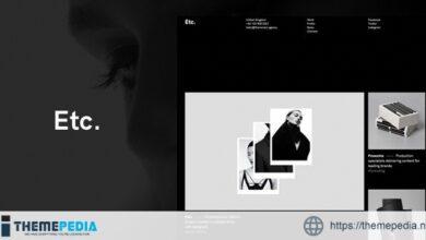 Etc. – Portfolio Creative WordPress Theme [Latest Version]