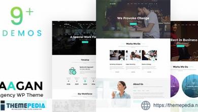 Aagan – Agency, Startup WordPress Theme [Updated Version]