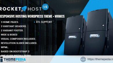 RocketHost – Responsive Hosting WordPress Theme + WHMCS [Free download]