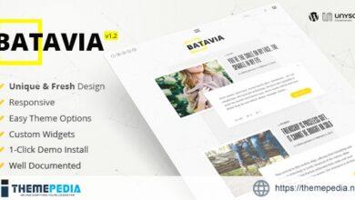 Batavia – A Fresh WordPress Personal Blog Theme [Updated Version]