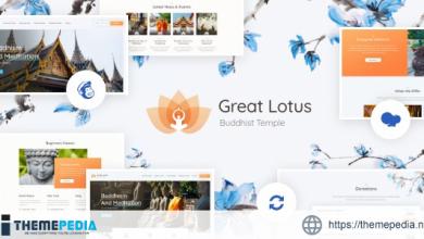 Great Lotus – Oriental Buddhist Temple WordPress Theme + RTL [Free download]