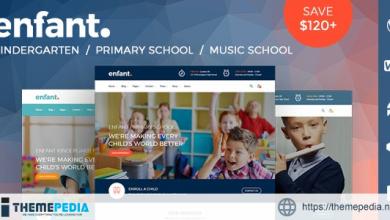 Enfant – School and Kindergarten WordPress Theme [Free download]