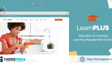 LearnPLUS – Education LMS Responsive Theme – Education [Free download]
