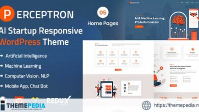 Perceptron – AI Startup WordPress Theme [Free download]