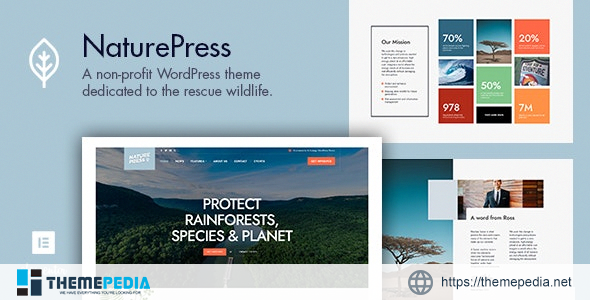 NaturePress – Ecology & Environment WordPress Theme [Free download]