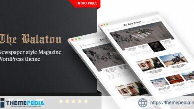 Balaton – Newspaper style Magazine WordPress Theme [nulled]