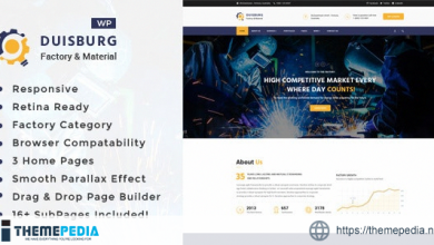 Duisburg – Factory & Industrial Business WordPress Theme [Free download]