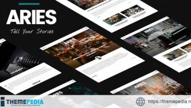 ARIES – Responsive Blog WordPress Theme [Free download]