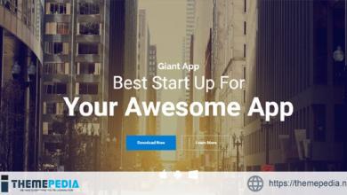 GiantApp – App Landing & Showcase WordPress [Free download]