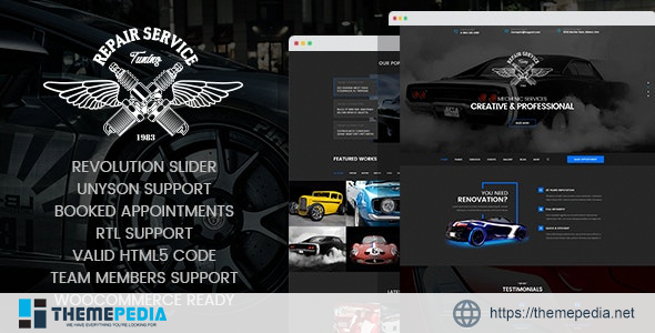 CarRepair – Auto Mechanic & Adjustment WordPress Theme [Latest Version]