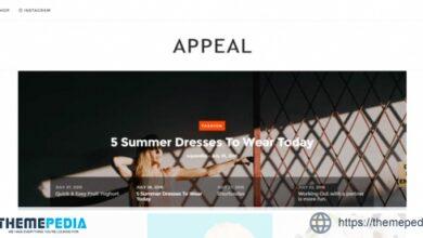 Appeal — A News, Blog, & Shop WordPress Theme [Free download]