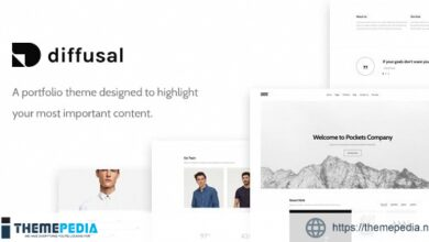 Diffusal – Portfolio Creative WordPress Theme [Free download]