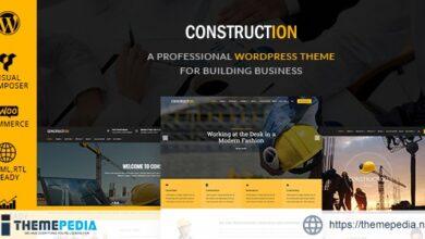 Construction – Building & Renovation WordPress Theme [Free download]