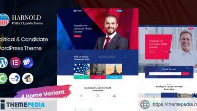 Harnold – Political WordPress Theme [Free download]